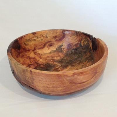 Allan Dickman White Pine Burl Bowl