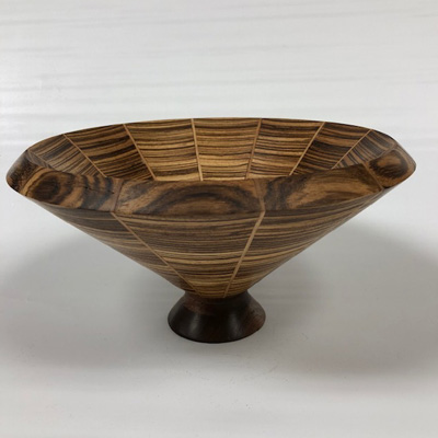 Mixed Wood Stave Bowl